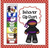 Ninja Theme Clip Chart for Behavior Management