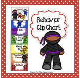 Ninja Theme Clip Chart for Behavior Management