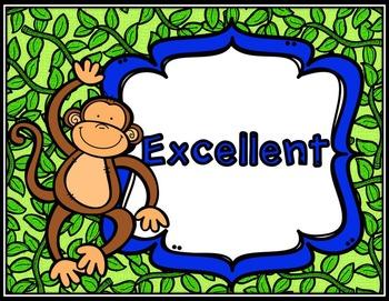 Clip Chart * Monkey Theme Clip Chart