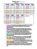 Clip Chart Behavior Documentation for Parents