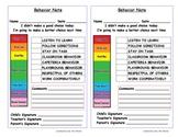 Clip Chart Behavior Forms