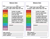 Clip Chart Behavior Forms