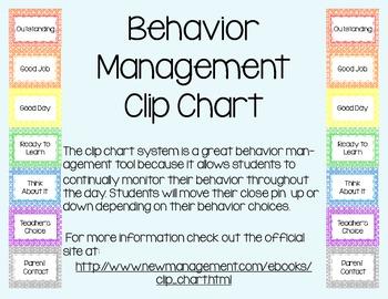 Clip Chart Behavior Management