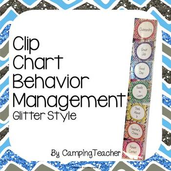 Discipline Clip Chart for Behavior Management Glitter Style