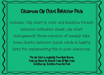 Clip Chart Behavior Management Pack
