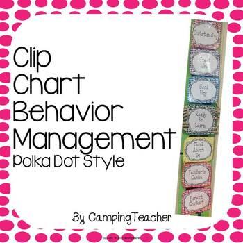 Discipline Clip Chart for Behavior Management Polka Dot Style