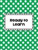 Clip Chart Behavior Management Primary Polka Dots (Editable)