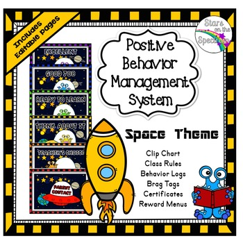 Clip Chart Behavior Management System Space Theme
