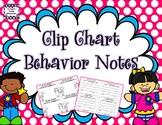 Clip Chart Behavior Management System Behavior Notes