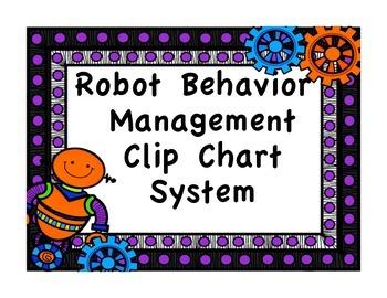 Clip Chart Behavior Management System {Robot Theme}