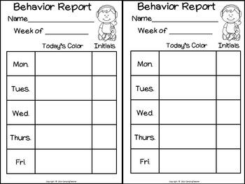 Discipline Clip Chart for Behavior Management Technology Theme