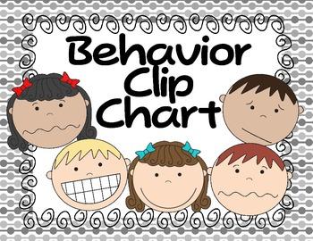 Clip Chart Behavior Managment System--Black and White Version