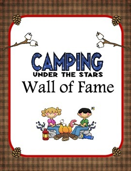 Clip Chart Behavior Plan- Camping Theme