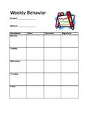 Clip Chart- Behavior Sheet