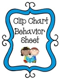 Clip Chart Behavior Sheet