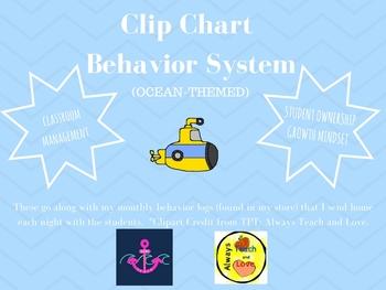 Clip Chart Behavior System - Under The Sea Theme