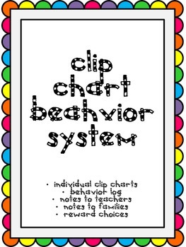 Clip Chart Behavior System with Monitoring Tools