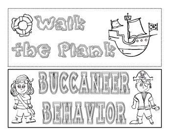Clip Chart - Buccaneers - Pirate Classroom Theme