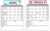 Editable Clip Chart Calendars