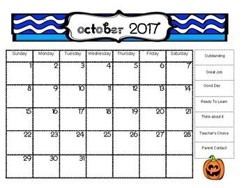 Clip Chart Calendar 17-18