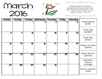 Clip Chart Calendar 2016-2017