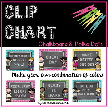 Behavior Clip Chart - Chalkboard & Polka Dots