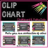 Clip Chart - Chalkboard & Polka Dots