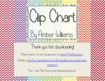 Clip Chart-Chevron