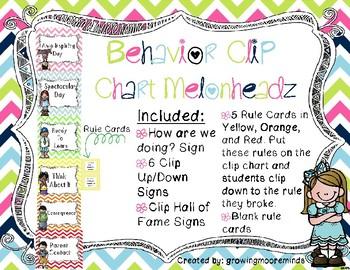 Clip Chart Chevron Melonheadz