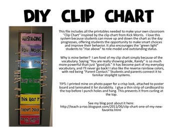 image relating to Diy Printables identify Clip Chart Do-it-yourself Printables