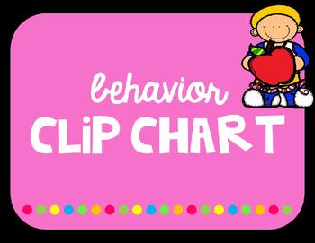Clip Chart EDITABLE Bright Colors