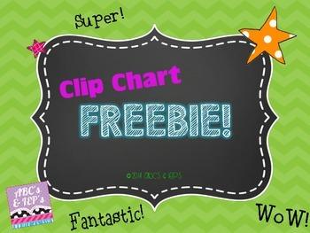 Clip Chart FREEBIE!