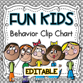 Clip Chart ~ Fun Kids Theme (editable)