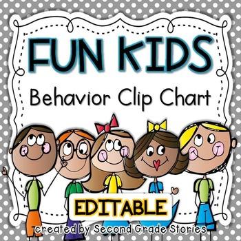 Clip Chart ~ Fun Kids Theme (editable)