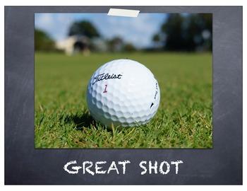 Clip Chart Golf Theme