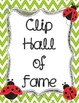 Clip Chart Hall of Fame Poster - Ladybug Themed