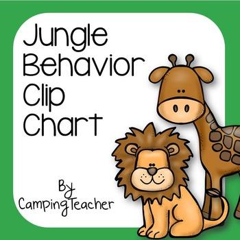Discipline Clip Chart for Behavior Management Jungle Theme