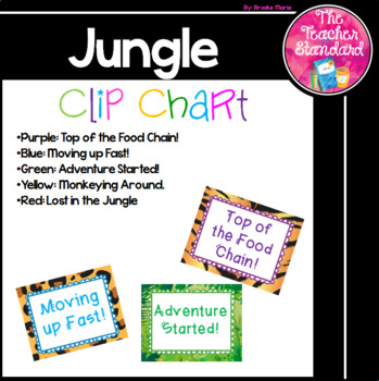 Clip Chart Jungle Theme