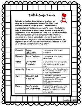 Clip Chart Letter to Parents