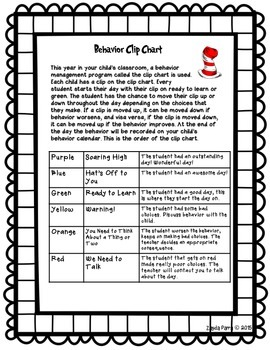 Clip Chart Letter to Parents - style 2
