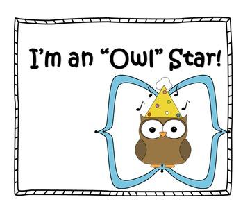 Clip Chart (Owl Theme)