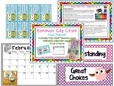 Clip Chart ~ Owls & Polka dots ~ +behavior cards & forms & calendars
