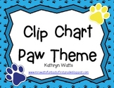 Clip Chart Paw Theme (Chart Only)