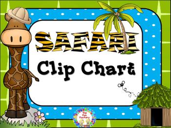Clip Chart - Safari Themed