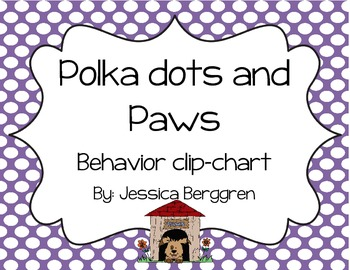 Clip Chart Signs {Polka Dots and Paws}
