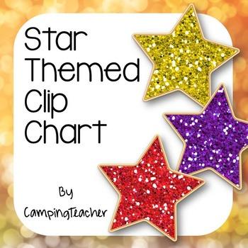Discipline Clip Chart for Behavior Management Star Theme