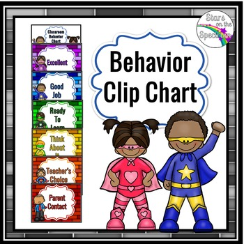 Clip Chart * Super Hero Theme Clip Chart