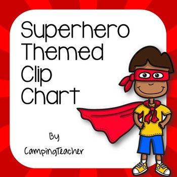 Discipline Clip Chart for Behavior Management Superhero Theme