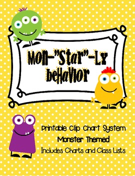 Clip Chart System: Monster Theme