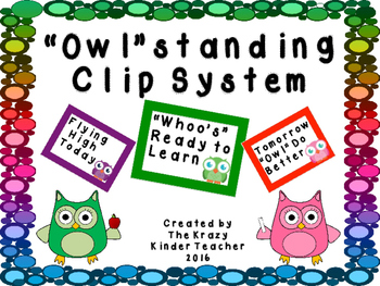 Clip Chart System - Owl Themed
